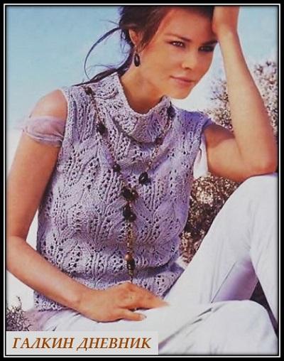 jenskaya-bezrukavka-spicami | 針織 针织 | 뜨개질을하는 | trikote | adīšana | mezgimas
