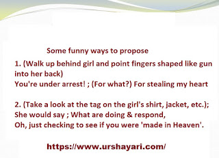 Some funny ways to propose