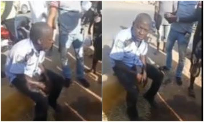 Police arrest drunk Policeman in trending video