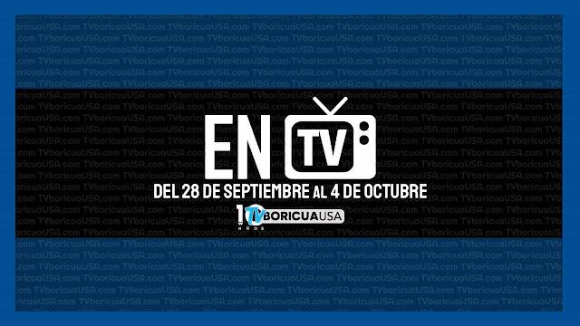 television puerto rico 28 septiembre al 4 octubre 2020