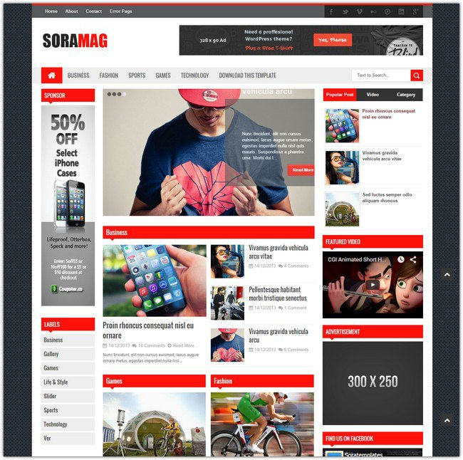 Download soramag blogger templates free techloggerx enhance sora mag blogger template theme news or magazine blogger template new blogger template 2016 wajeb Choice Image