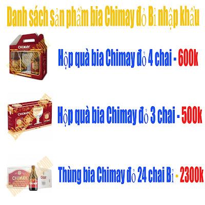 Bảng giá danh sách sản phẩm Chimay đỏ