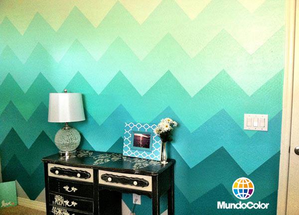 El blog de mundocolor 28 ideas para decorar tus paredes - Easy paint designs for walls ...