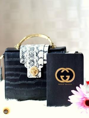 Baginning website and black crocodile printed snakeskin strap leather satchel handbag review on Natural Beauty And Makeup Blog