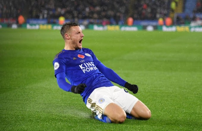 Jamie Vardy Beats Aubameyang, Others To Win 2019/2020 Golden Boot Award (See Full List Of Awards)