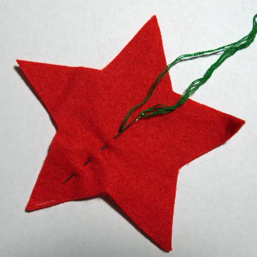 Christmas in July Star felt ornaments