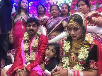 Jyoti Singh and Pawan Singh marriage photo