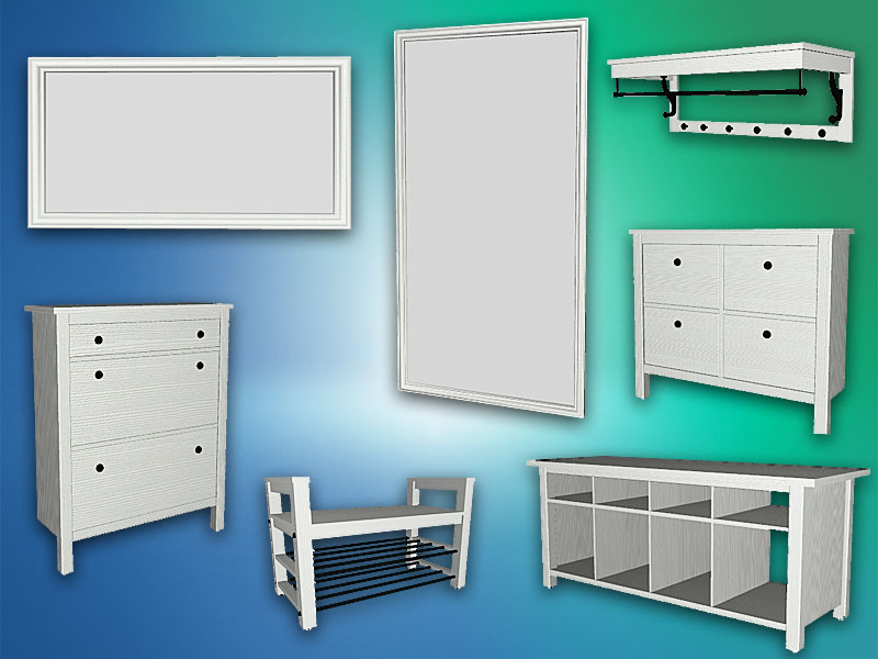 My Sims 4 Blog Ikea Hemnes Hallway Set By Natatanec
