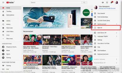 Cara Keluar Akun YouTube di Komputer Desktop
