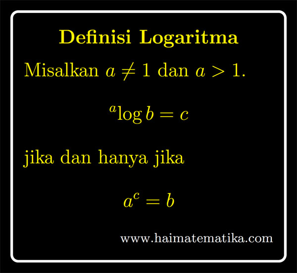 Pengertian, rumus, sifat, contoh soal dan pembahasan. Logaritma Definisi Fungsi Persamaan Dan Pertidaksamaan Terbaru Haimatematika
