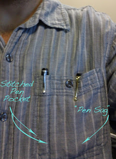 Ingenious Pen Pocket for Button Down Shirts