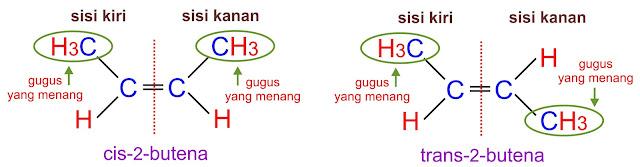 cis trans 2 butena- C4H8