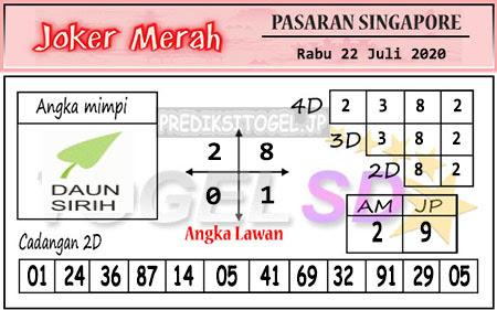 Prediksi Joker Merah SGP Rabu