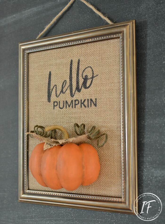 DIY Foam Pumpkin Fall Sign