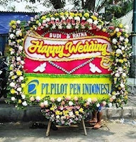 gambar-bunga-papan-happy-wedding