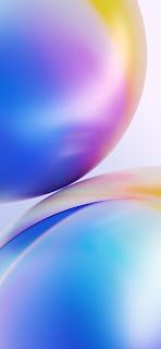 خلفية ايفون فقاعات بنفسجية وصفراء عملاقة