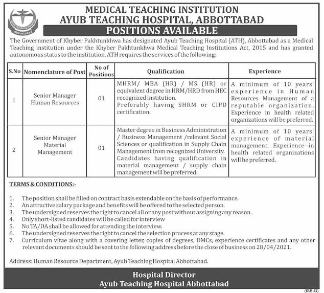 Ayub-Teaching-Hospital-Abbottabad-Jobs-Vacancies-2021