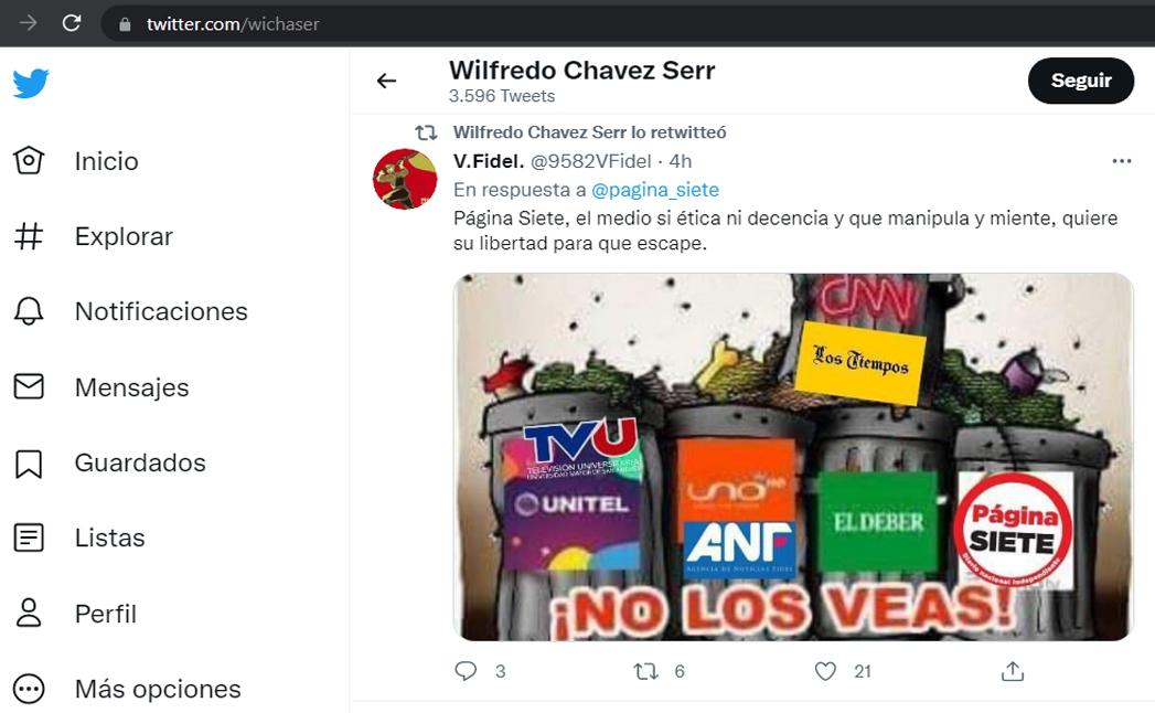 El gráfico difundido desde la cuenta del procurador del Estado, Wilfredo Chávez / TWITTER