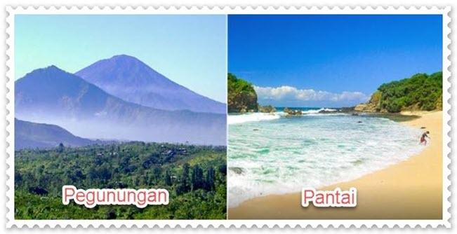 Pegunungan dan Pantai