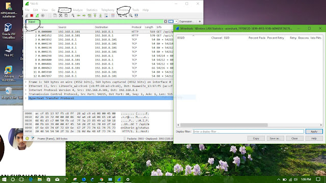 Wireshark with airpcap or airmon: