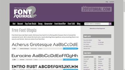 Kumpulan 13 Situs Download Font Gratis Siap Desain zotutorial.com