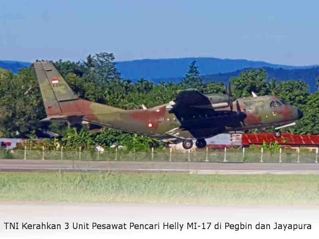 TNI Kerahkan 3 Unit Pesawat Pencari Helly MI-17 di Pegbin dan Jayapura