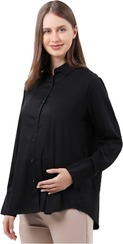 Best Good Quality Maternity Button Down Collared Shirts Blouses