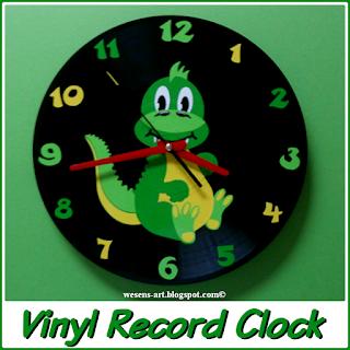 VinylRecordClock wesens-art.blogspot.com