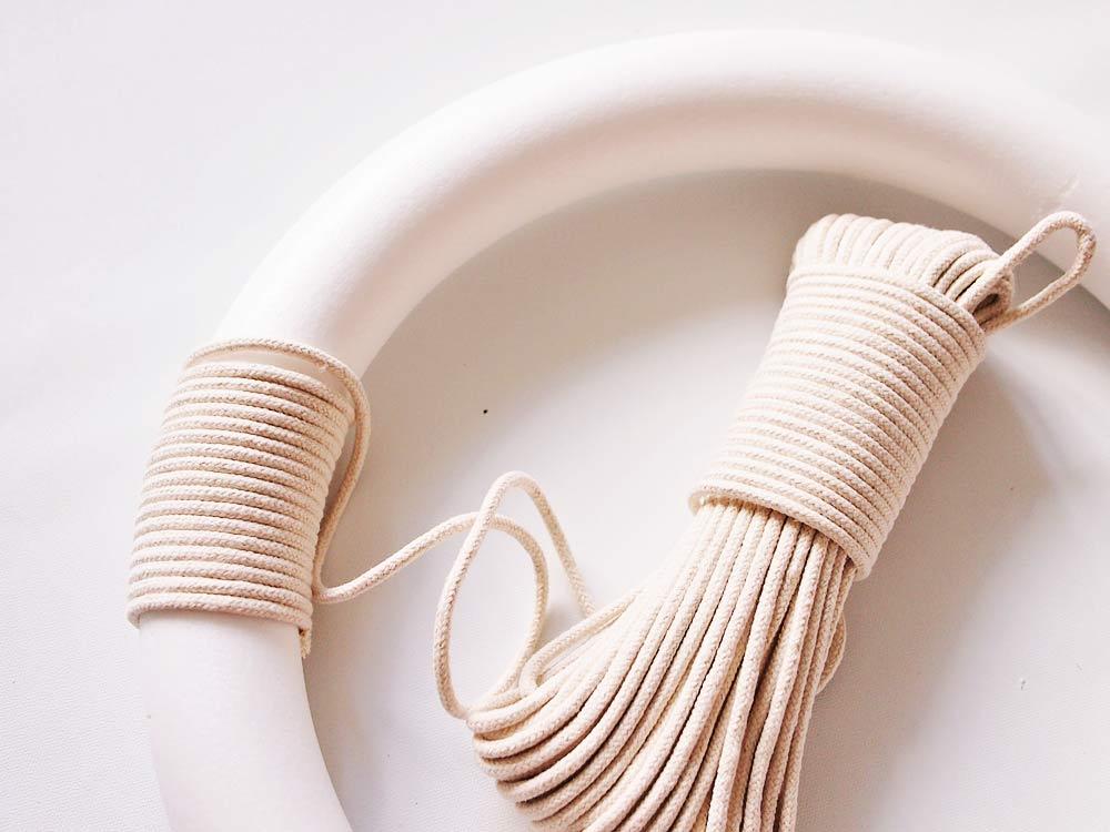 Fall Cotton Rope Wreath DIY