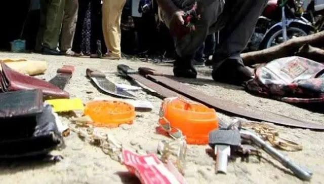 Wakali Kwanza gang in Mishomoroni. PHOTO | BMS