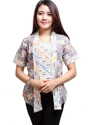Model baju batik atasan wanita modis