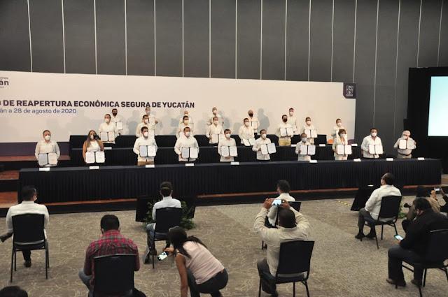Acuerdo de Reapertura de Reactivación Económica Segura de Yucatán. Antonio Sánchez González