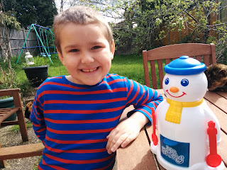 Dan Jon Jr (aka Big Boy) and Mr Frosty. The two main men in my life.