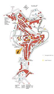 Mapa de San Gimignano.