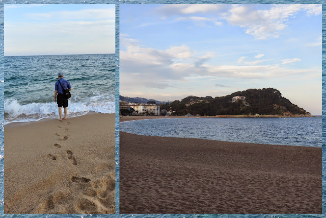 Fenals Beach at Dusk:  Lloret de Mar, Costa Brava, Spain