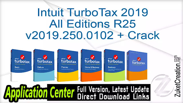 Intuit TurboTax 2019 All Editions R25 v2019.250.0102 + Crack