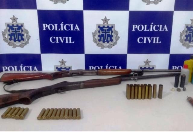 Chapada: Depois de ameaçar família, homem é preso por porte ilegal de arma