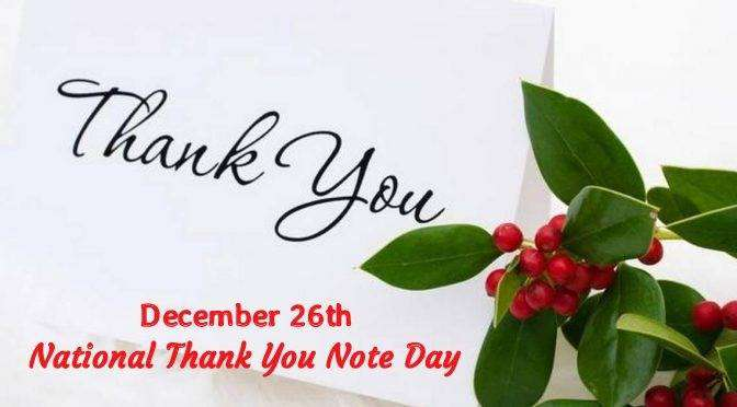 National Thank You Note Day Wishes for Whatsapp