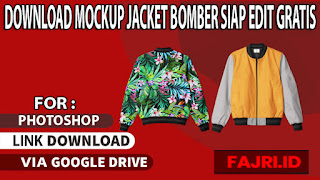 Download Mockup Jacket Bomber Terbaik Siap Edit Gratis