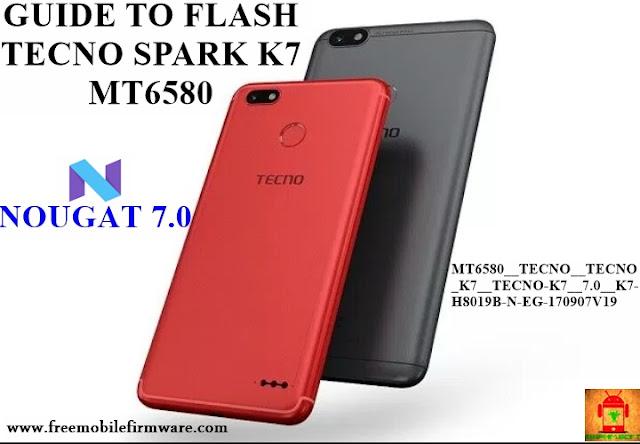 Guide To Flash TECNO Spark K7 MT6580 Nougat 7.0 Tested Firmware Via SP Flashtool