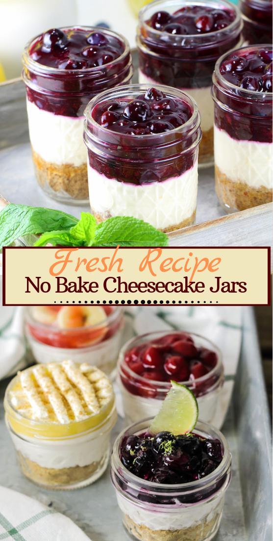 No Bake Cheesecake Jars #desserts #cakerecipe #chocolate #fingerfood #easy