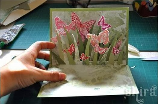 diy 3d butterfly greeting card