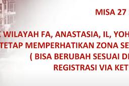 Misa Minggu 27 September 2020