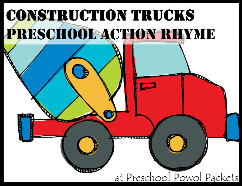 C is for Construction Trucks Preschool Action Rhyme
