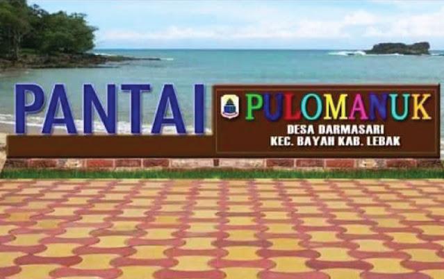 Pantai Pulo Manuk, Sawarna, Lebak Regency, Banten