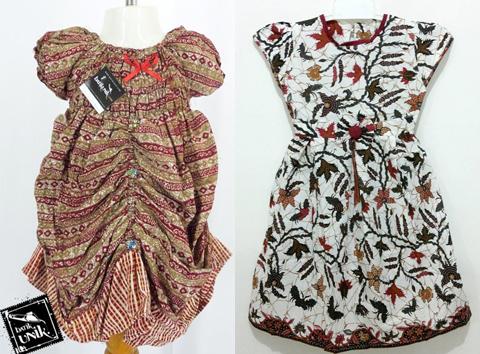 model dress batik anak perempuan