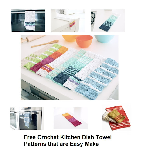 Free Crochet Kitchen Hand Towels Patterns