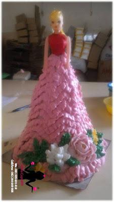 Kue ulang tahun karakter Barbie Sidoarjo
