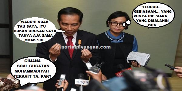 Takut Kalah Digugat Muhammadiyah, Jokowi Salahkan Sri Mulyani