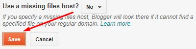 Save custom domain blogspot